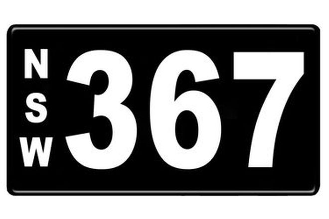 Number Plates - NSW Numerical Number Plates '367'