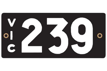 Victorian Heritage Plate '239'