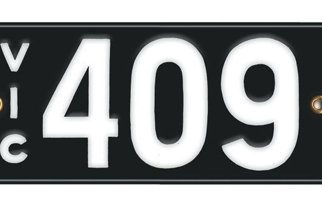 Victorian Vitreous Enamel Number Plates - '409'