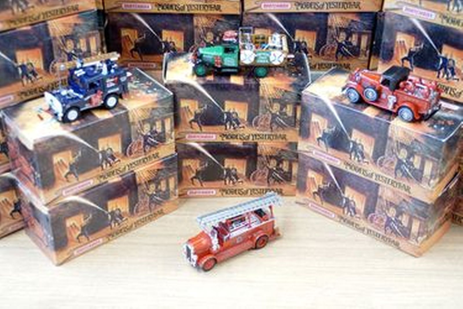 36 x  Model Cars - Matchbox Models of Yesteryear Fire Trucks (approx 1:32 scale)