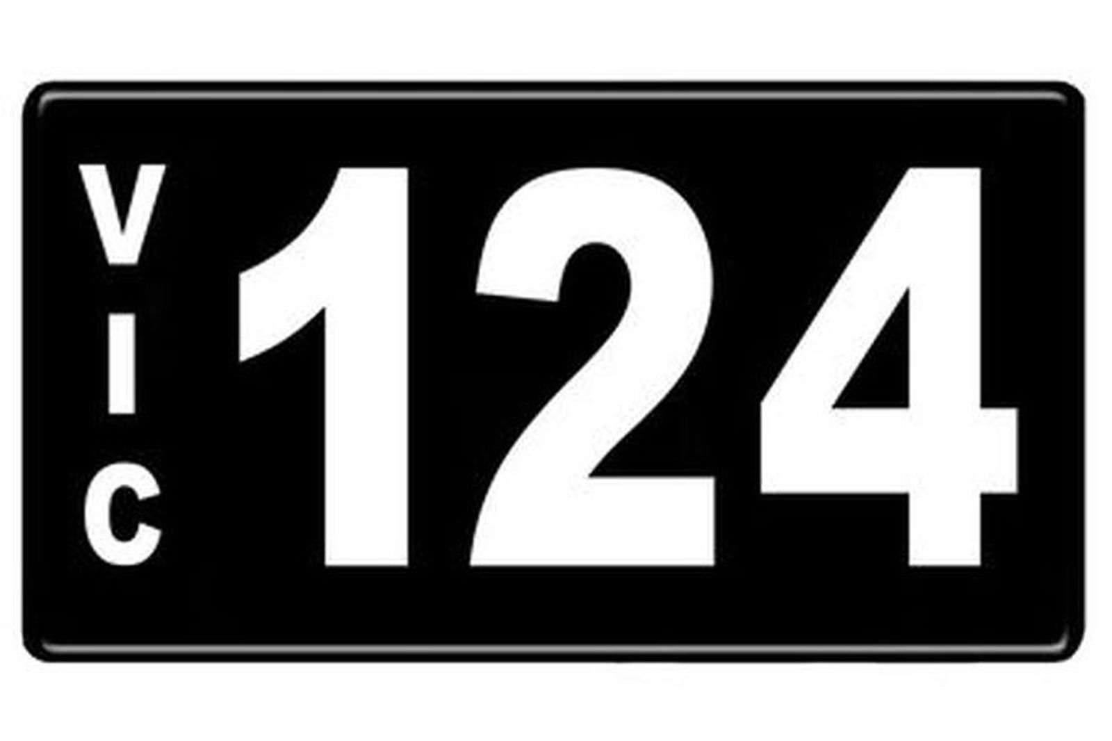 Number Plates - Victorian Numerical Number Plates '124'