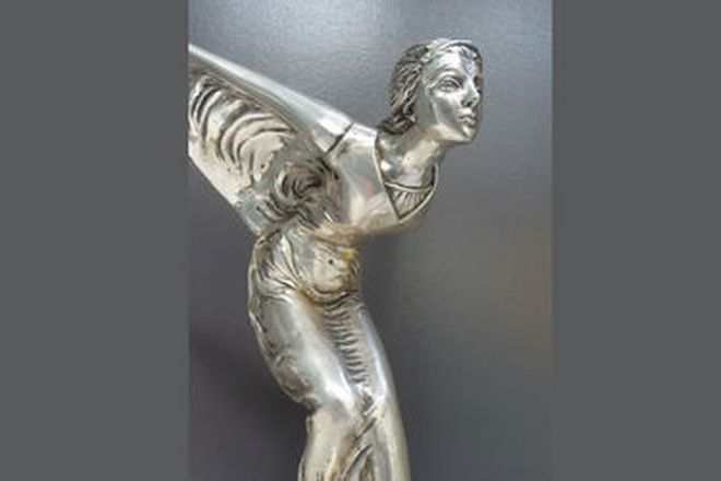 Statue - Spirit of Ecstacy Silver Plated Bronze