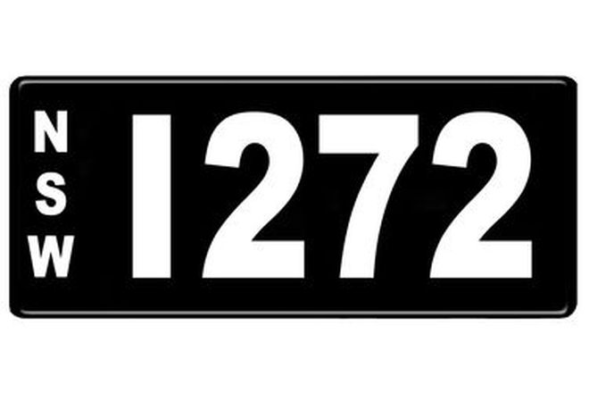 NSW Numerical Number Plates '1272'