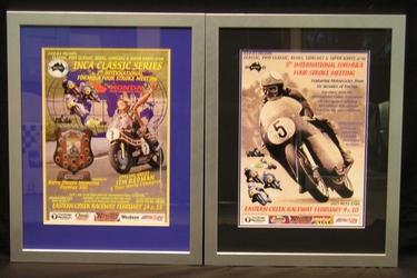 2 Framed Prints - 5th & 7th Eastern Creek International Four Stroke