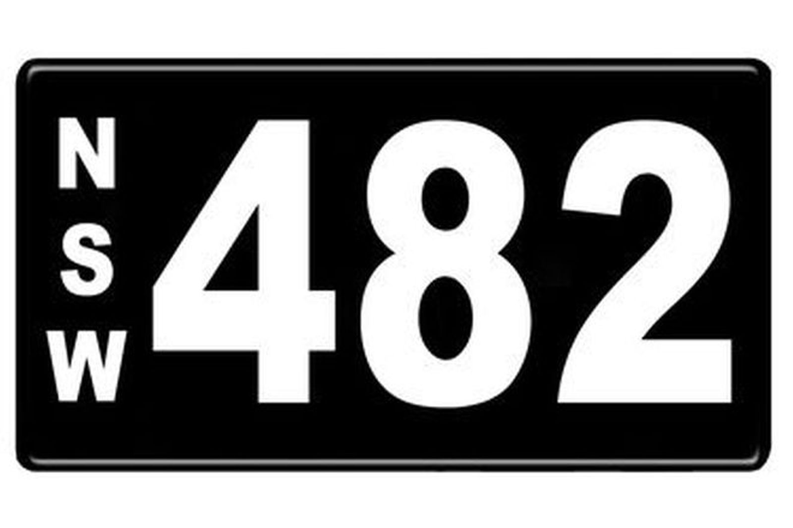 Number Plates - NSW Numerical Number Plates '482'