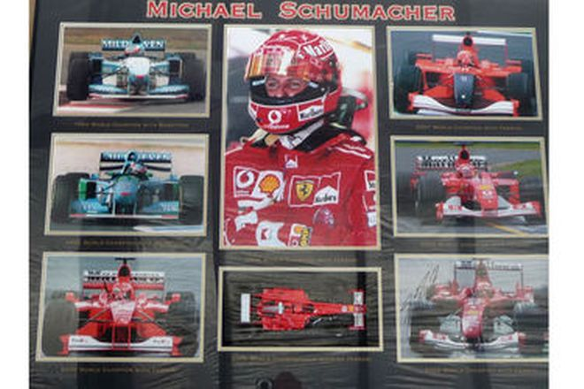 Framed Print - Michael Schumacher World Championships 1994 - 2004 (No. 8 of 15)