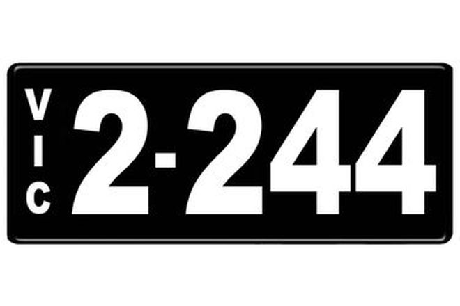 Number Plates - Victorian Numerical Number Plates - 2.244