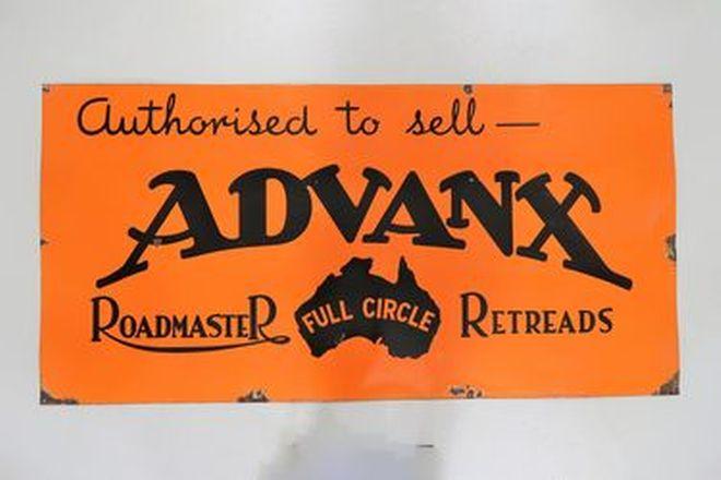 Enamel Sign - Advanx Roadmaster Retreads Rectangular (90 x 180cm)