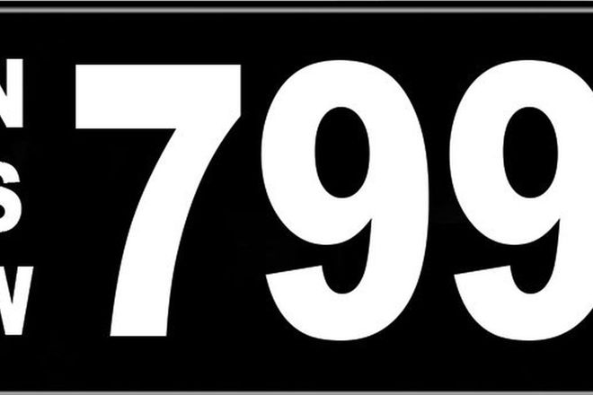 Number Plates - NSW Numerical Number Plates '799'