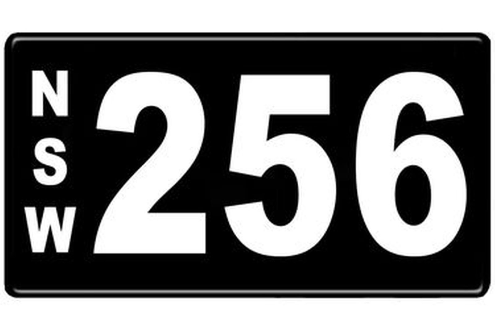 Number Plates - NSW Numerical Number Plates '256'