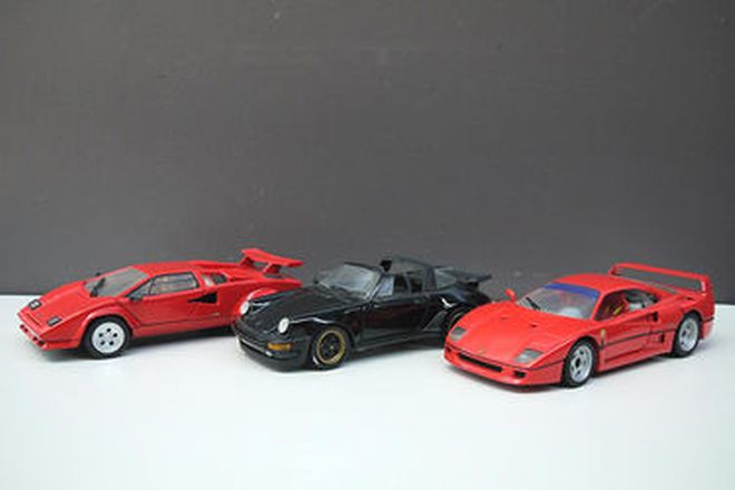 Model Cars - 3 x Franklin Mint Euro Supercars