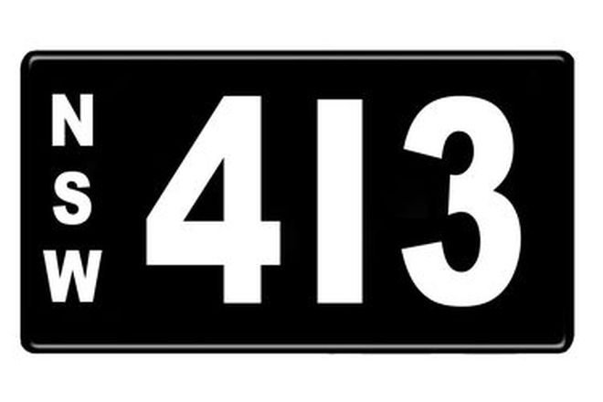 Number Plates - NSW Numerical Number Plates '413'