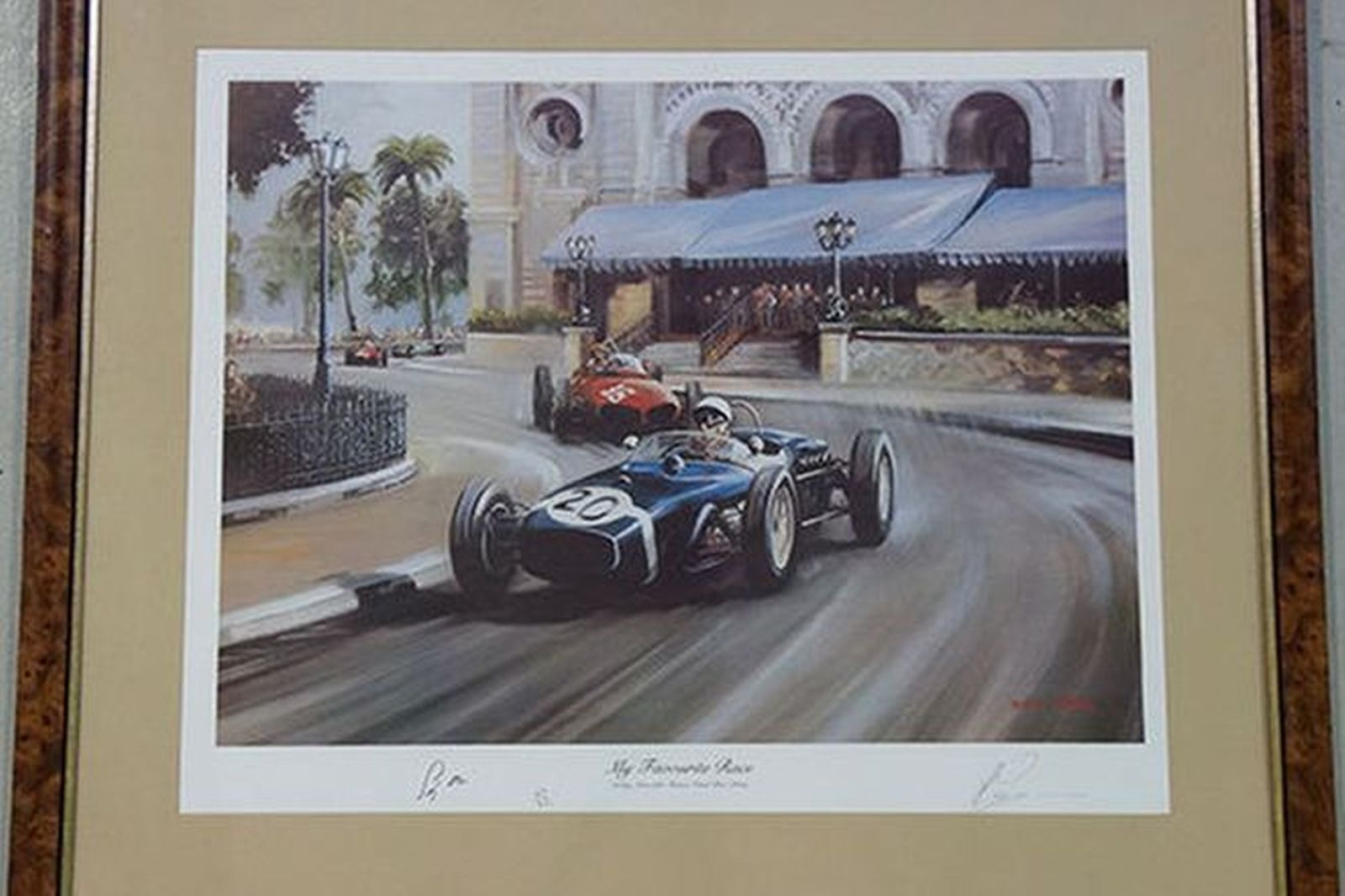 Framed Print - 'My Favourite Race' Stirling Moss 1961 Monaco Grand Prix - No: 47/850 (75 x 86cm)