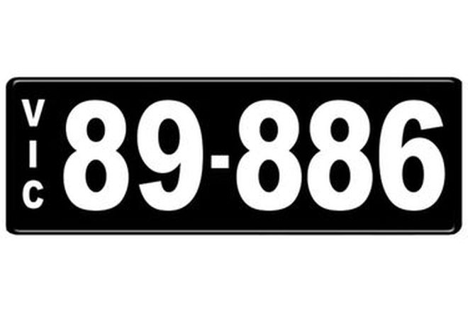 Number Plates - Victorian Numerical Number Plates '89.886'