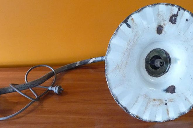 Early Sydney Street Light with Enamel Shade (44cm diameter) wired for 240v