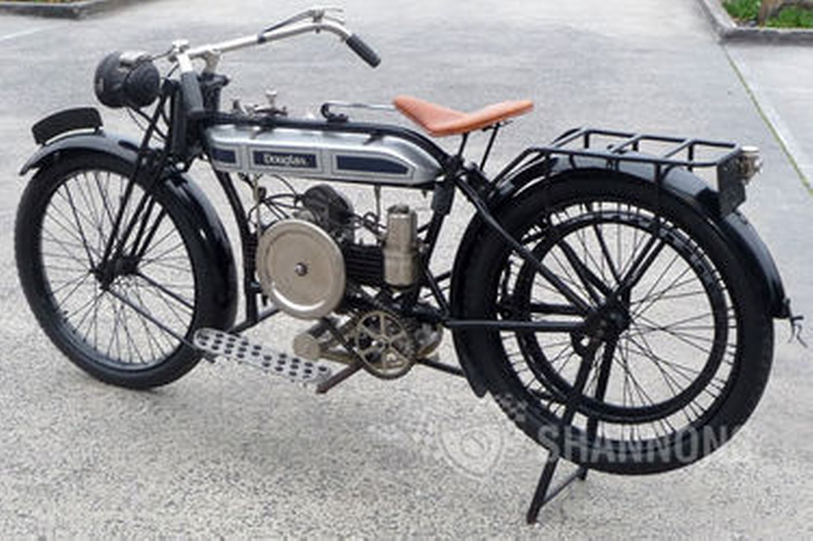 C Douglas Cc Belt Drive Motorcycle on Horizontally Opposed 4 Cylinder Engine