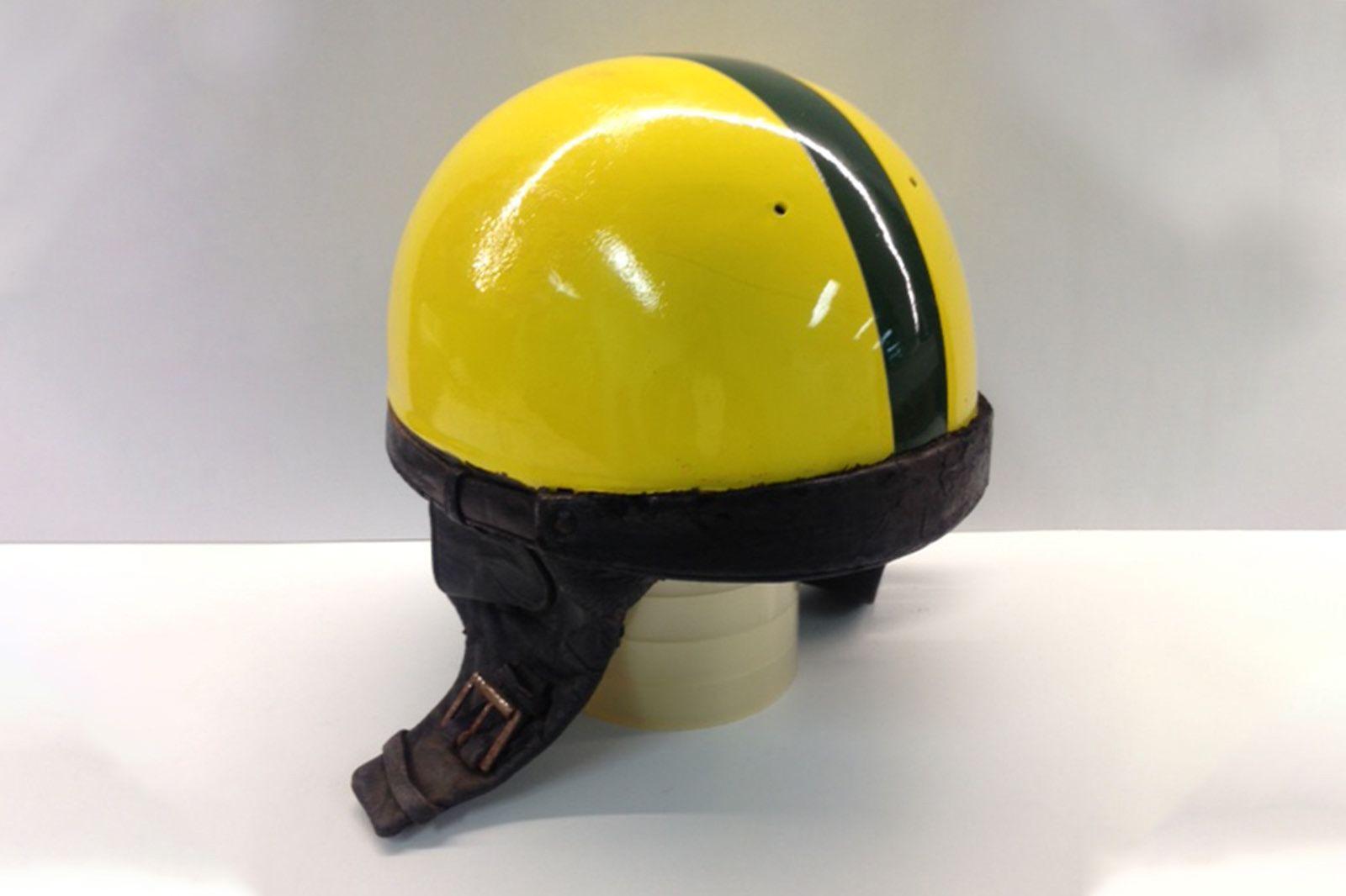 Pudding Bowl Vintage Helmet - Yellow / Green