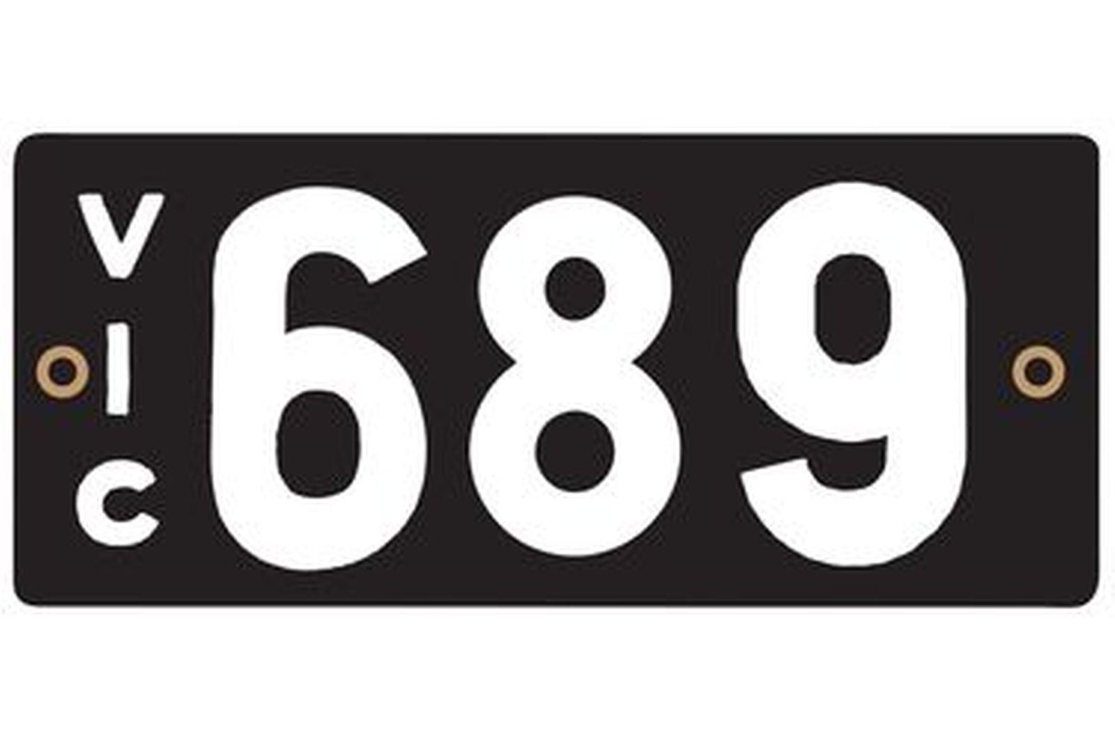 Victorian Heritage Plate '689'