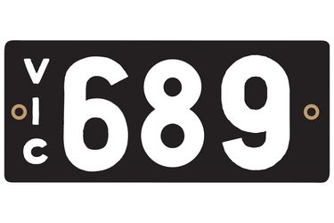 Victorian Heritage Plate '689'
