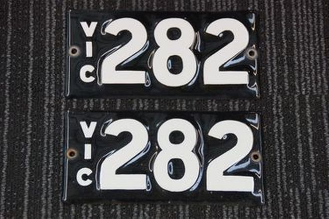 Number Plates - Victorian Numerical Number Plates '282'