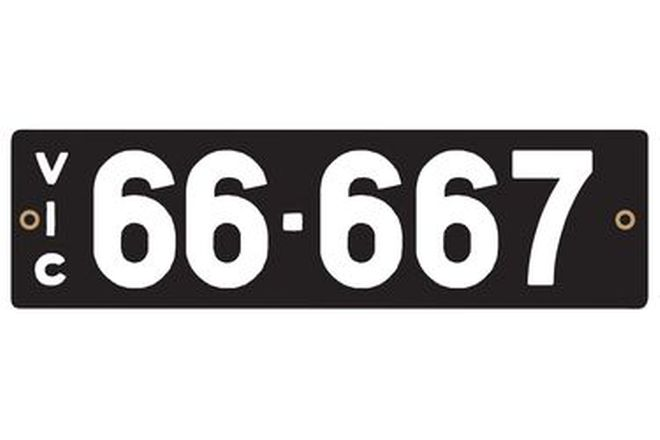 Victorian Heritage Numerical Number Plates '66.667'