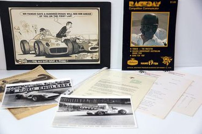 Fangio Collage - 1978 Sandown Program & Signed Photo