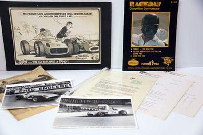 Fangio Collage - 1978 Sandown Program & Signed Photo