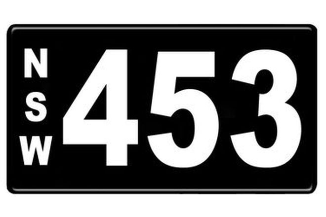 Number Plates - NSW Numerical Number Plates '453'