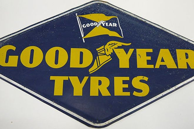 Sign - Goodyear Tyres Tin Sign (71 x 40cm)