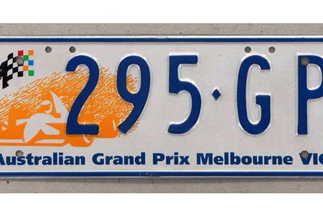 Number Plates - Victorian Australian Grand Prix No. Plates '295 GP'
