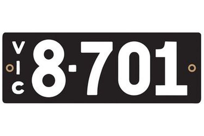 Victorian Heritage Numerical Number Plate - 8.701