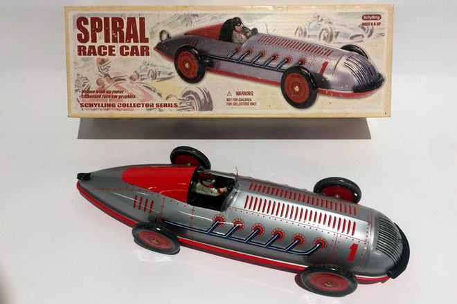 Model Tin Car Schylling Collector Series - Spiral Race Car