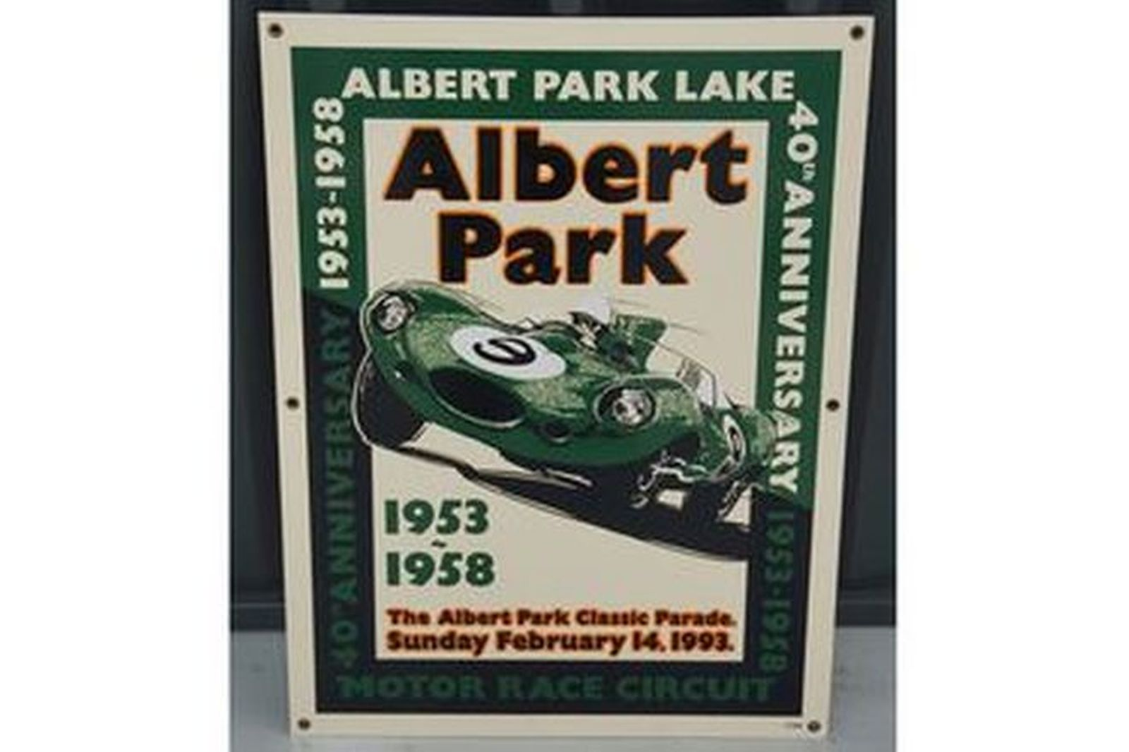 Enamel Sign - Albert Park 40th Anniversary 1953 - 1958 (No: 37/100)