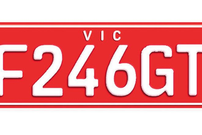 Victorian Custom Mix Number Plates - 'F246GT'