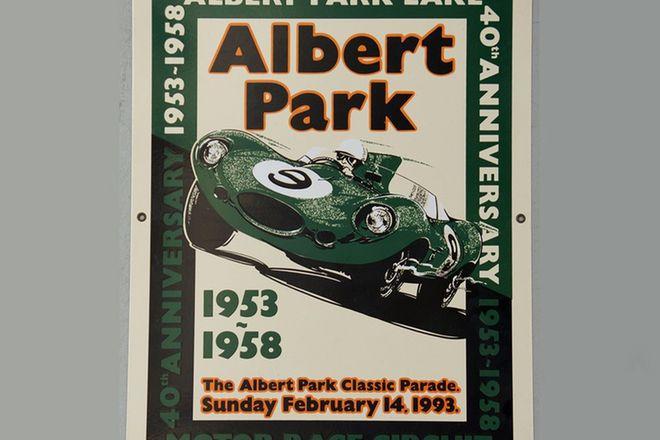 Enamel Sign - Albert Park 40th Anniversary Grand Prix - No 65/100 (66 x 50cm)