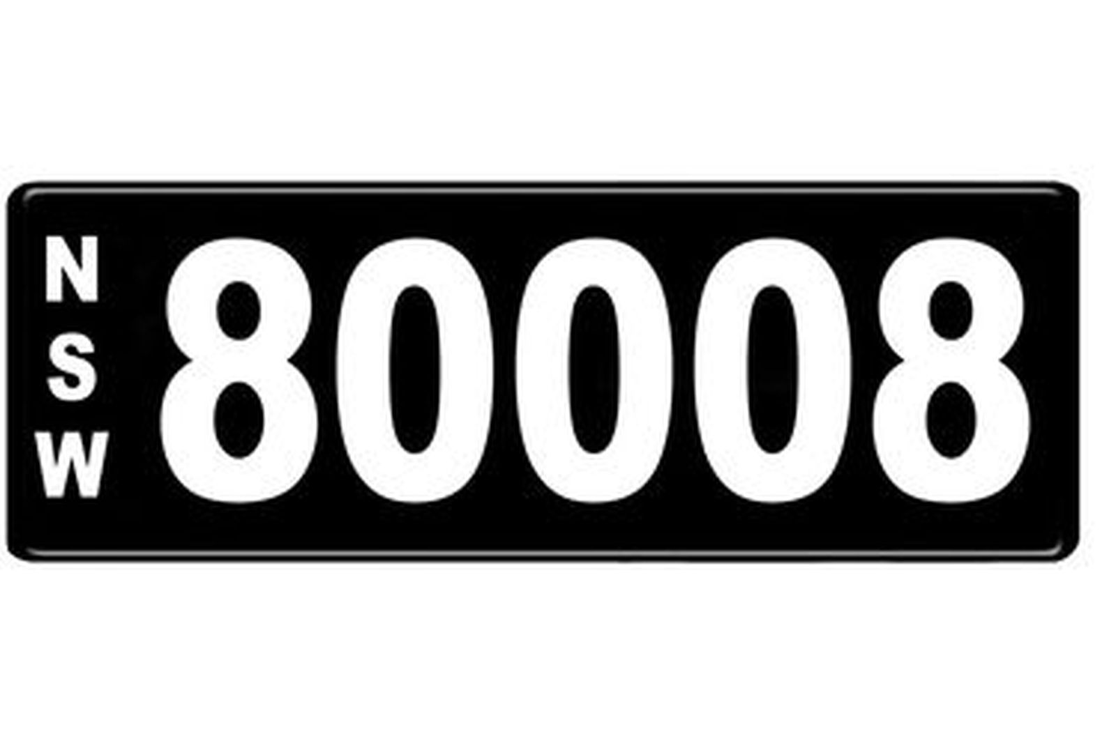 Number Plates - NSW Numerical Number Plates '80008'