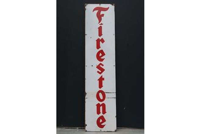 Enamel Sign - Firestone (183 x 44cm)