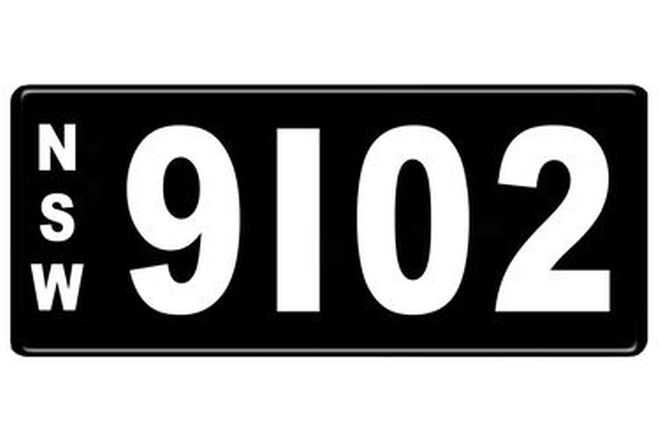 Number Plates - NSW Numerical Number Plates '9102'