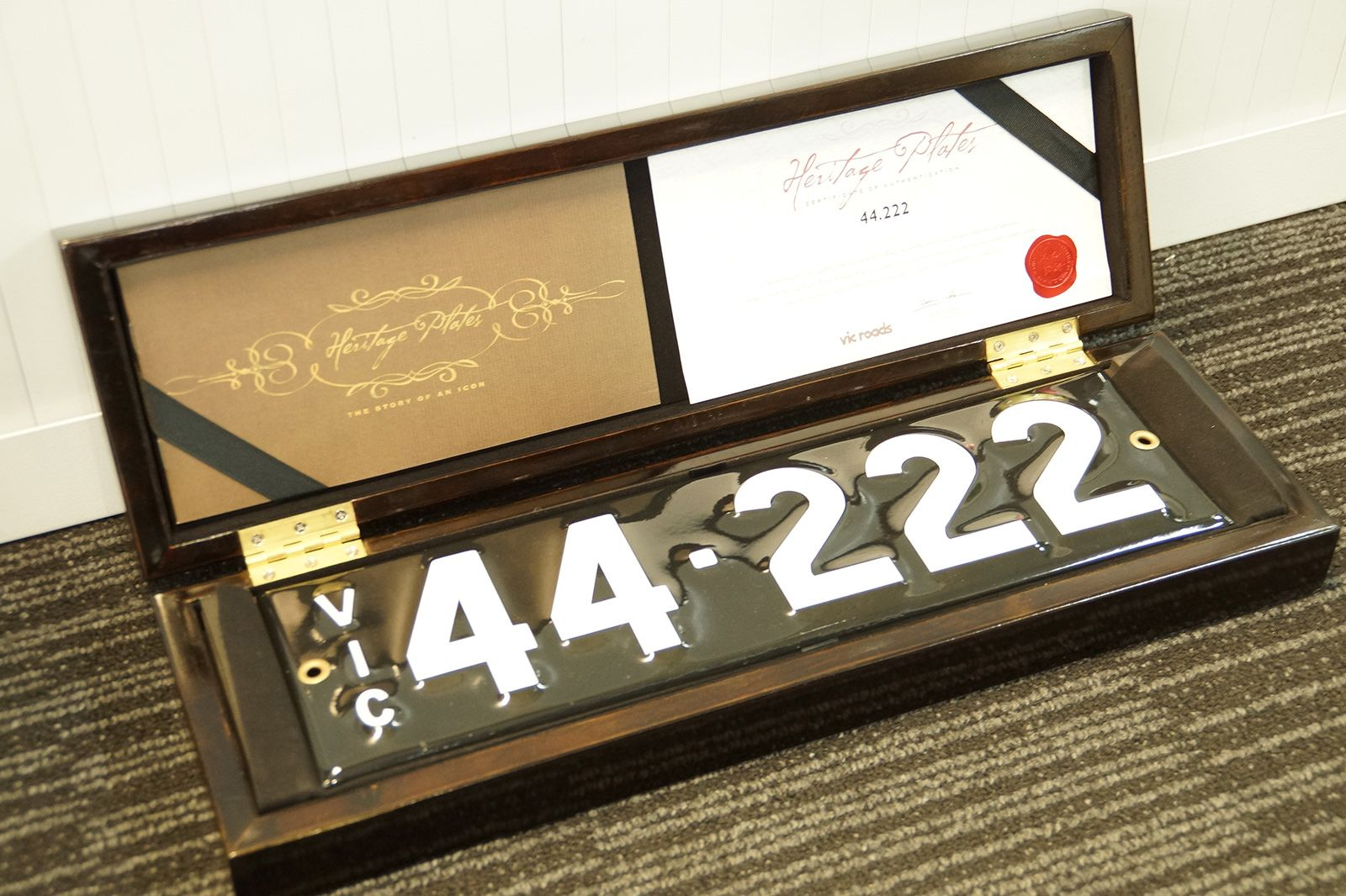 Number Plates - Victorian Numerical Number Plates - '44-222'