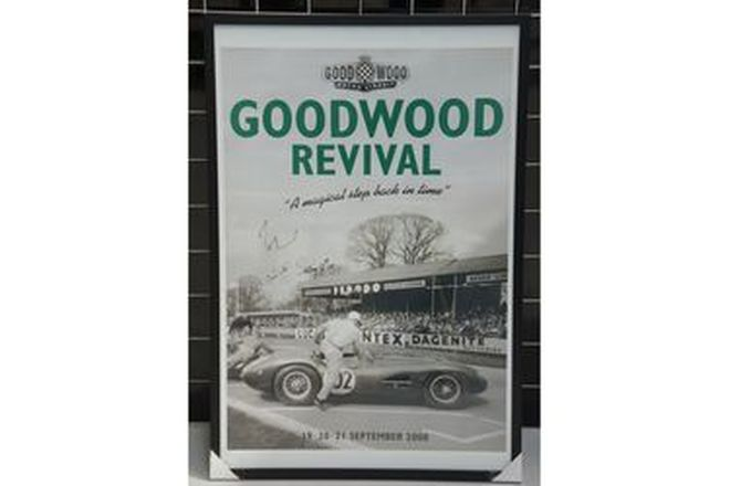 Framed Signed Poster - 2008 Goodwood Revival (90 x 60cm)