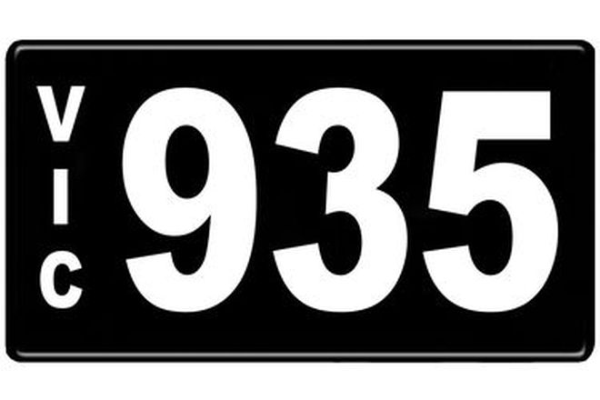 Number Plates - Victorian Numerical Number Plates '935'