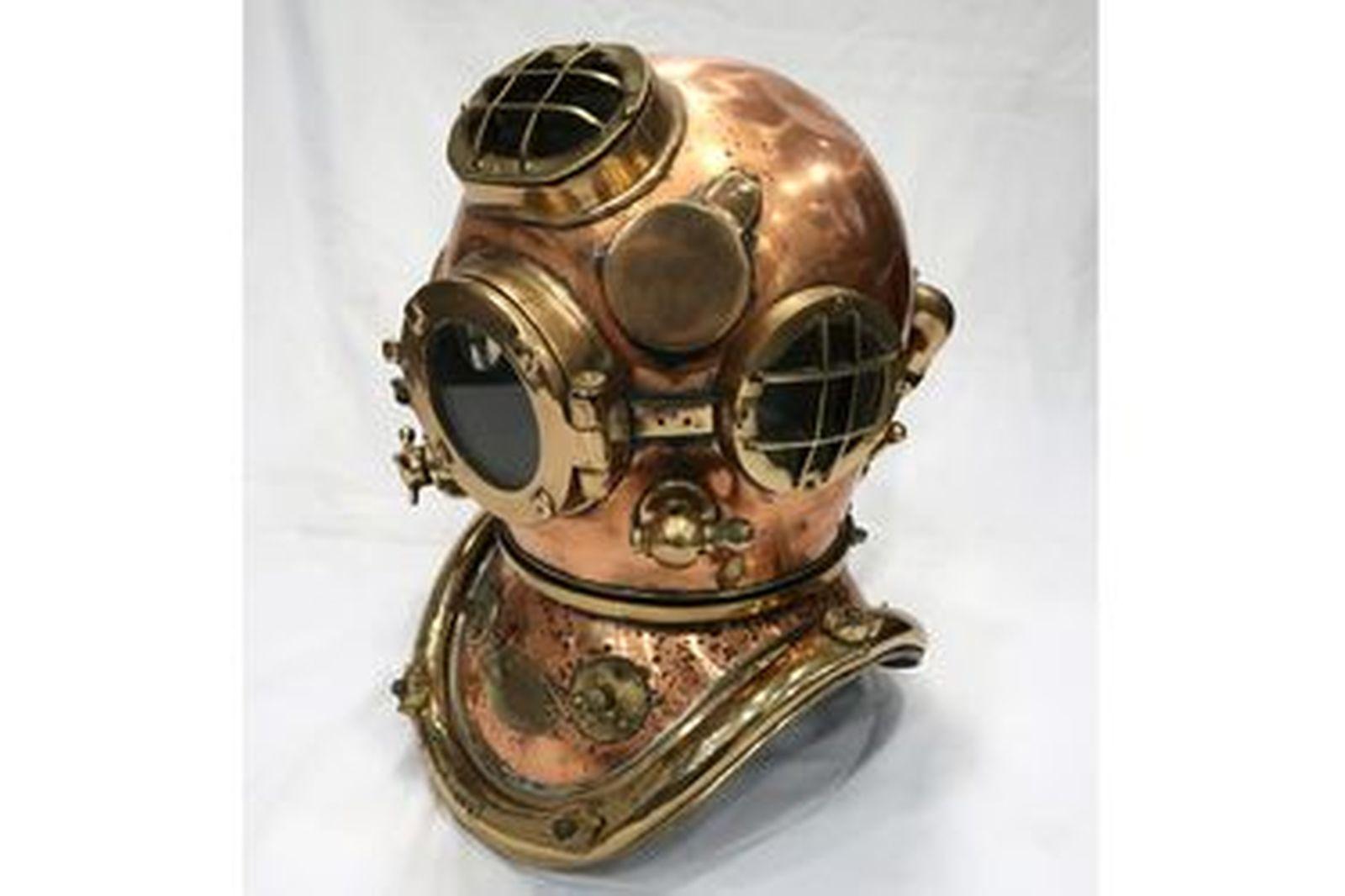 Marine Diver's Brass Helmet by Siebe Gorman & Co Limited Submarine Engineers London