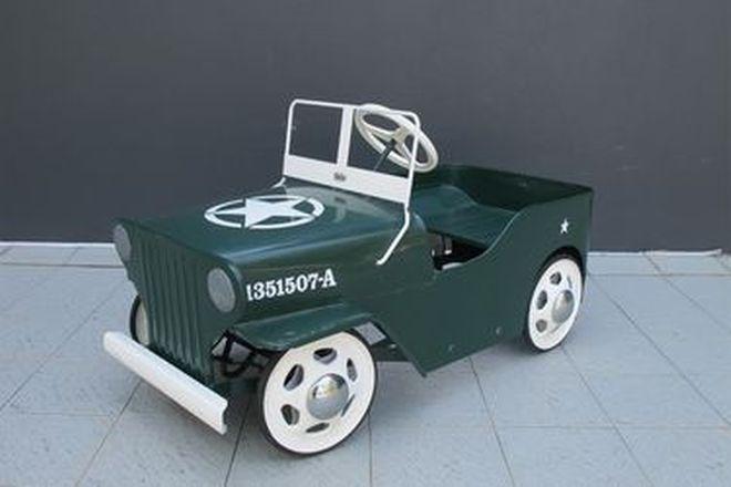 Pedal Car - c1950s Cyclops Jeep (95 x 44 x 50cm)
