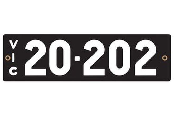 Victorian Heritage Numerical Number Plates '20.202'