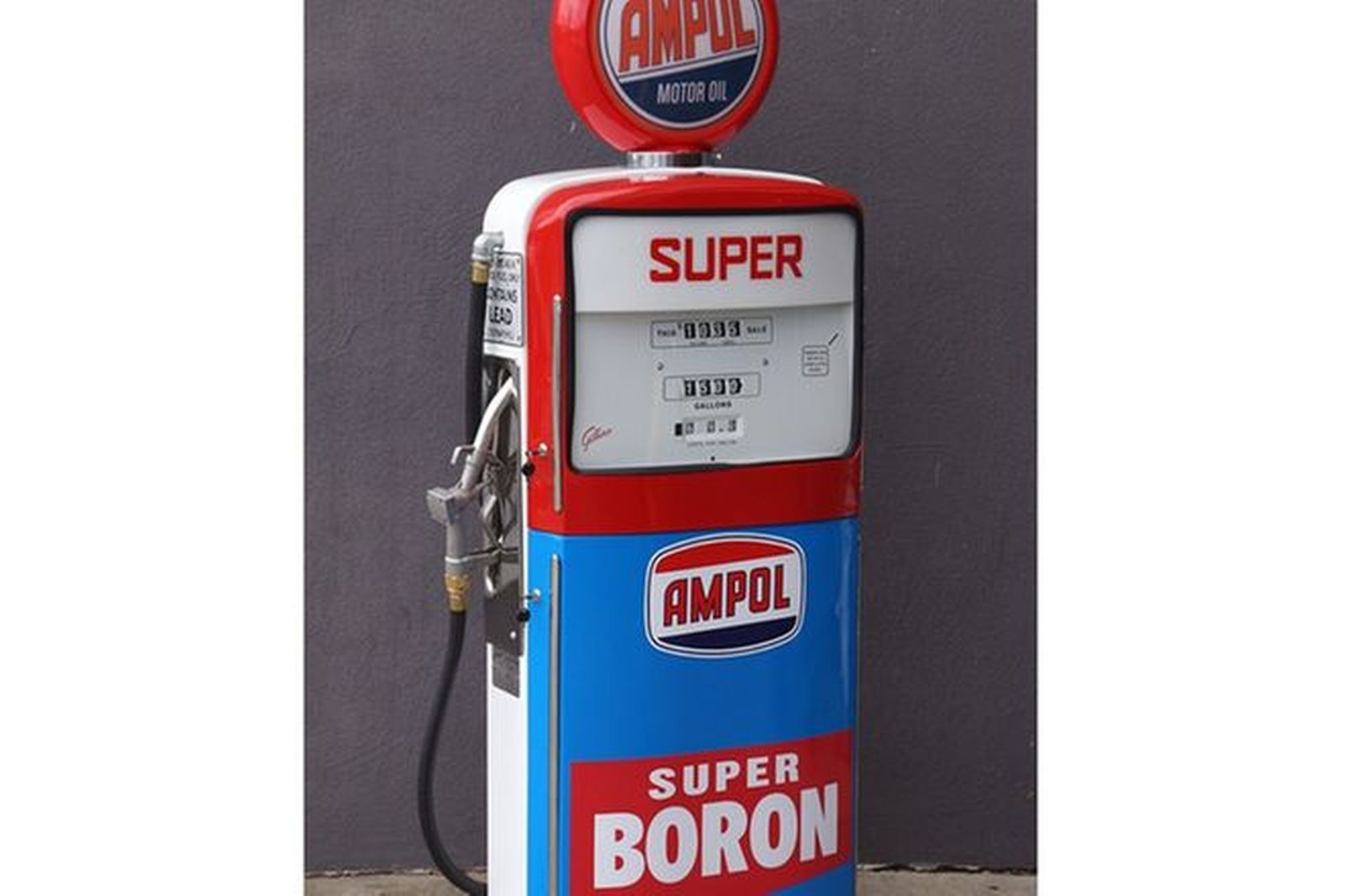 Petrol Pump Conversion - Gilbarco Sales Maker with TV & DVD. In Ampol Livery with Reproduction globe