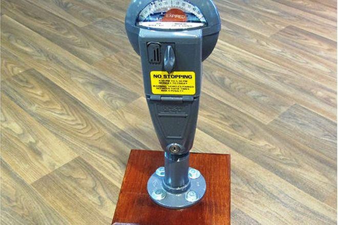 Parking Meter - Duncan Model on Cut Down Stand (Approx. 55cm tall)