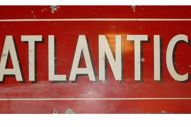 Enamel Sign - Atlantic (130cm x 60cm)