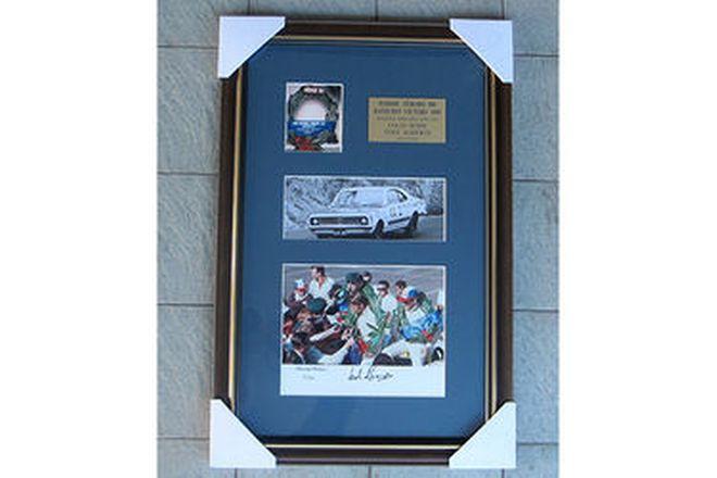 Framed Signed Photo & Book Set - Colin Bond 1969 (52/69) & Book - Bathurst GTS Monaro