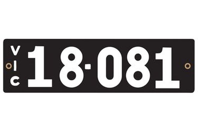 Number Plates - Victorian Numerical Number Plates '18-081'