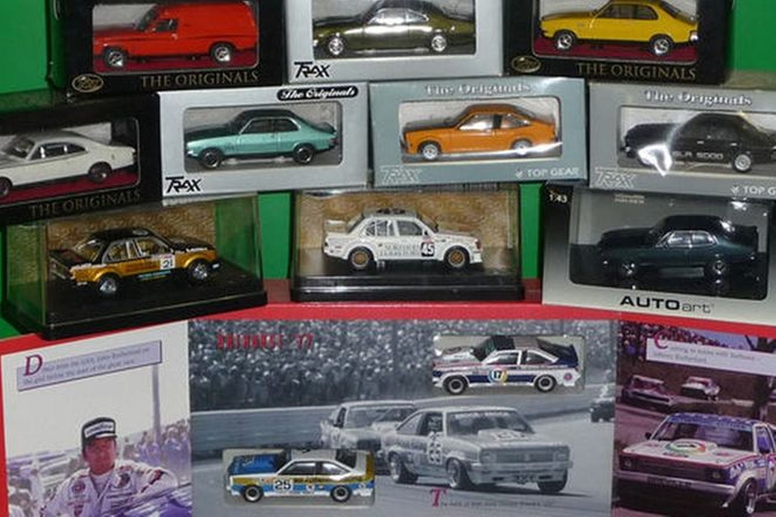 Model Cars - 10 Holden + A9X Bathurst 1977 Boxed Set Mix of Trax and Auto Art (1:43 scale)